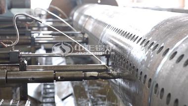 中正锅炉大型集箱管卧式三主轴数控钻床