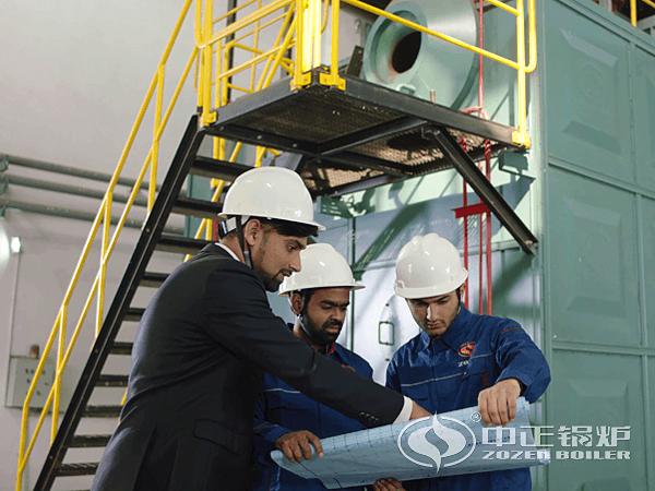 中正锅炉服务人员指导安装锅炉