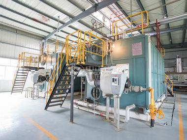 中正SZS燃气蒸汽锅炉于吉香居运行现场