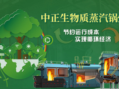 中正生物质蒸汽锅炉 节约运行成本实现循环经济