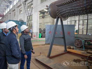 斯里兰卡客户应邀参观中正锅炉生产基地