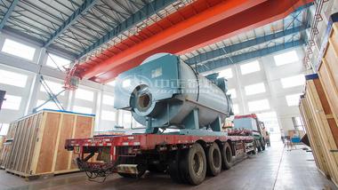 发货至中山健力宝集团有限企业的中正WNS系列燃气蒸汽锅炉