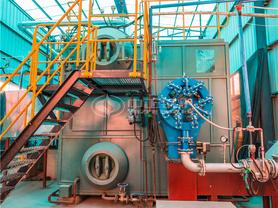 盛泽新型建材15吨SZS系列燃气饱和蒸汽锅炉项目