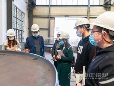 中正锅炉为电商部新员工开展锅炉常识现场培训