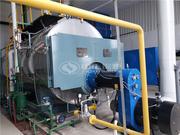 江苏宇航板业6吨WNS系列冷凝式三回程燃气蒸汽锅炉项目