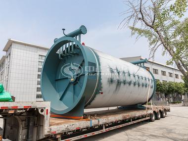 发往泰国的7MW燃气立式导热油炉