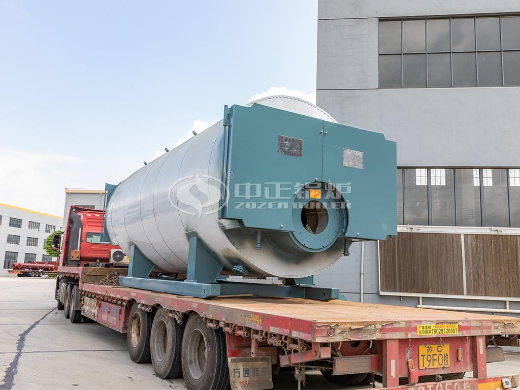 中正5.6MW燃气常压热水锅炉发货中