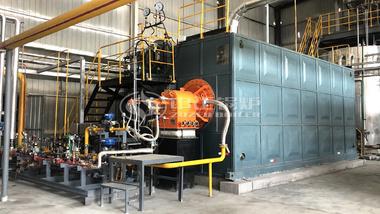 运行于新科奥德科技两台15吨SZS系列冷凝式燃气蒸汽锅炉