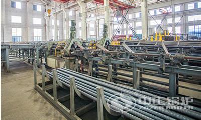 中正锅炉螺纹烟管生产线