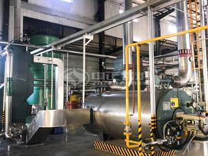 山东鲁花1200万大卡YQW系列燃气卧式导热油锅炉项目