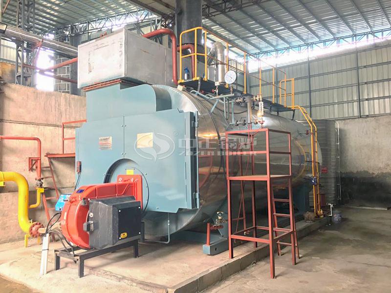 12吨WNS系列冷凝式燃气蒸汽锅炉项目(晶彩纺织)