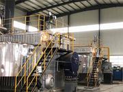 潍坊滨投热力40吨SZS系列冷凝式燃气蒸汽锅炉项目