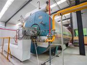 阿美斯壮矿棉板业700万大卡YQW系列燃气卧式导热油锅炉项目