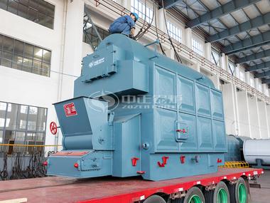 亚博登录官方网站2吨生物质颗粒锅炉发往云南