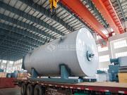 新庆馨纸业10吨WNS系列燃油燃气蒸汽锅炉项目