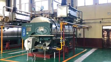 运行于山东济宁精神病防治院的两台鸭脖娱乐官网3吨WNS系列燃气蒸汽锅炉