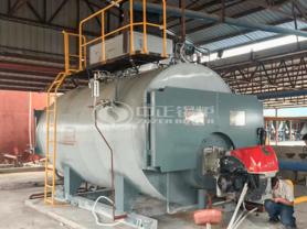 6吨WNS系列低氮环保燃气蒸汽锅炉项目(乐东昌昇标准环保机砖)