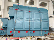 蒙古国食品行业2吨DZL系列燃煤链条炉排蒸汽锅炉项目