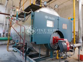 国泰彩印4吨WNS系列燃油燃气三回程冷凝式蒸汽锅炉项目