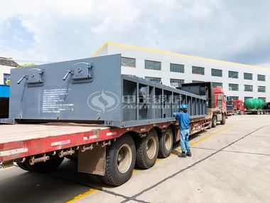 鸭脖娱乐官网15吨SZL系列燃煤链条炉排水管蒸汽锅炉发往埃塞俄比亚