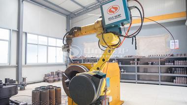 鸭脖娱乐官网锅炉管座自动焊接机器人