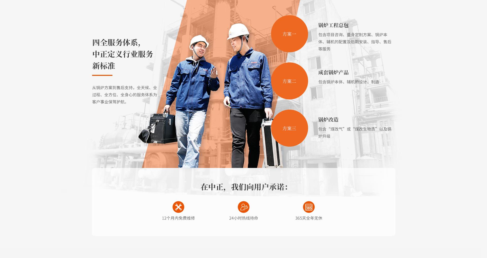 四全服务体系,中正定义行业服务新标准