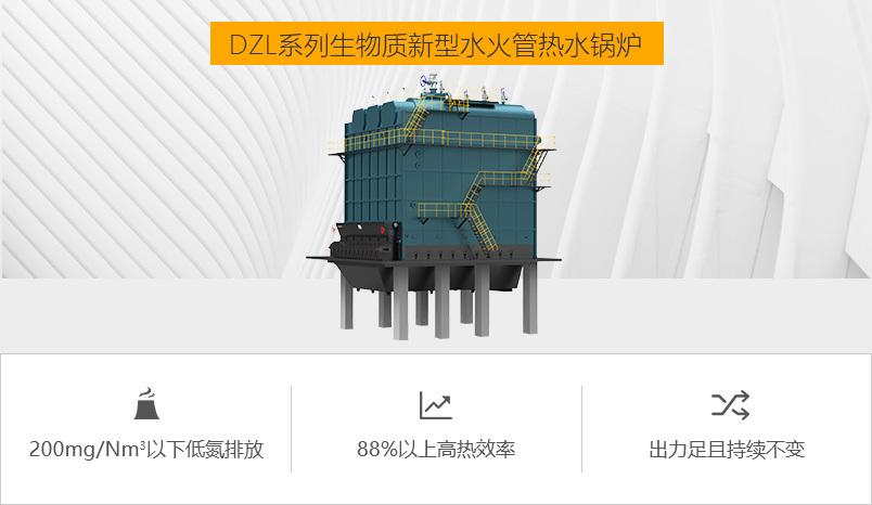 鸭脖娱乐网页版锅炉DZL系列生物质水火管热水锅炉